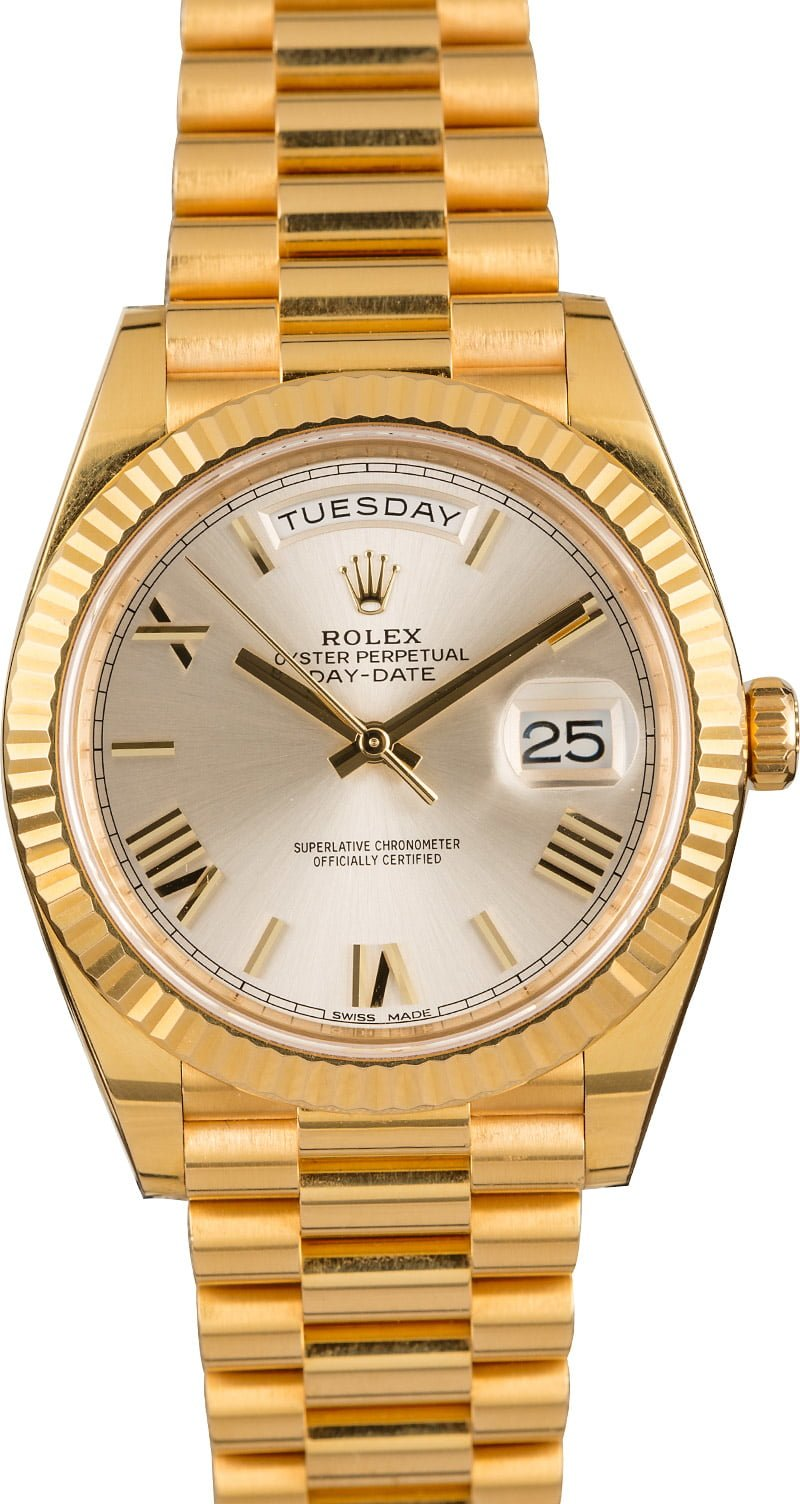 Most Popular Luxury Gold Rolex Watches for Men Day-Date President Roman Dial Solid Gold