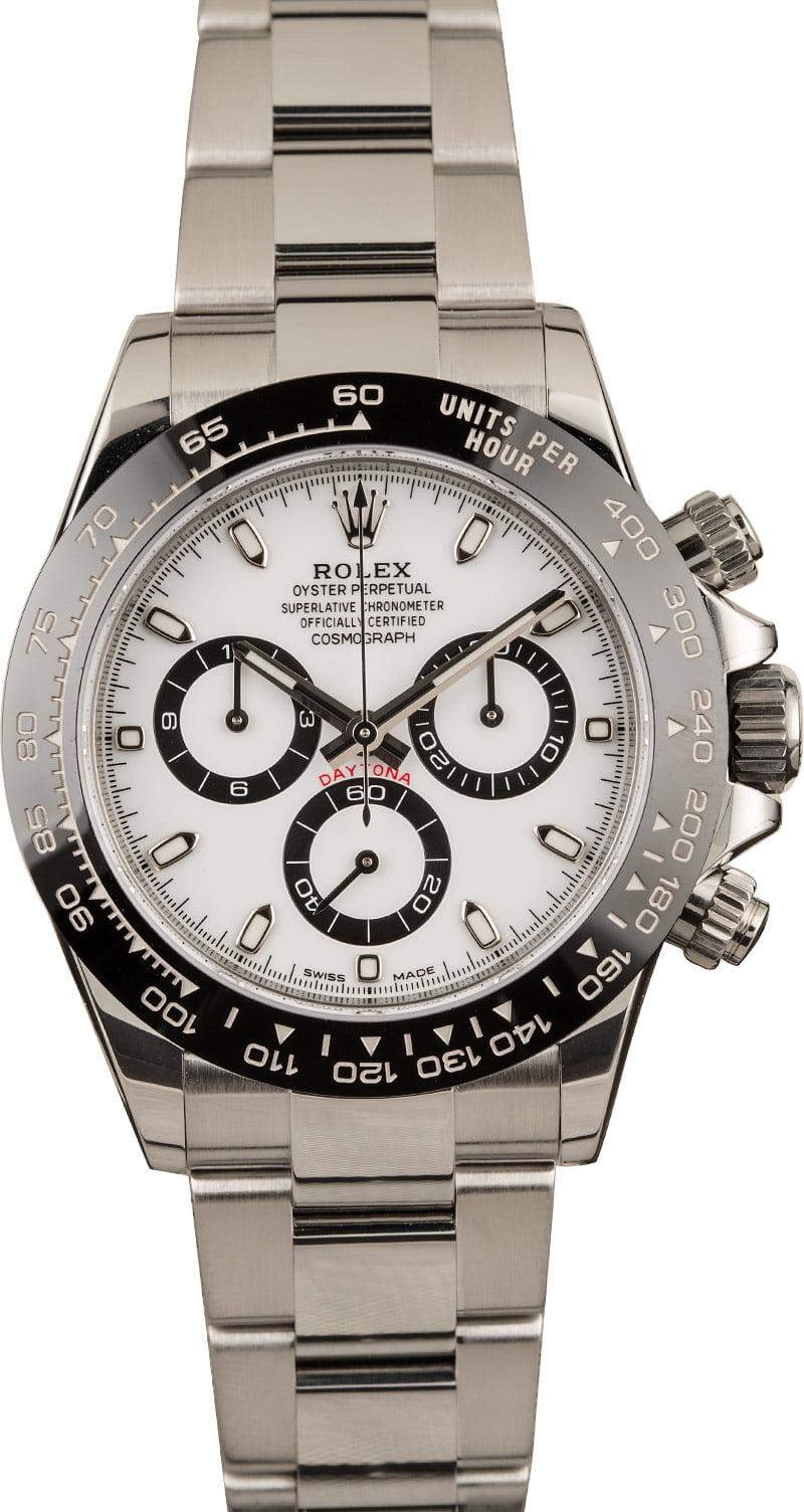 Best Rolex Watches for Men Ceramic Daytona 116500 LN White Dial