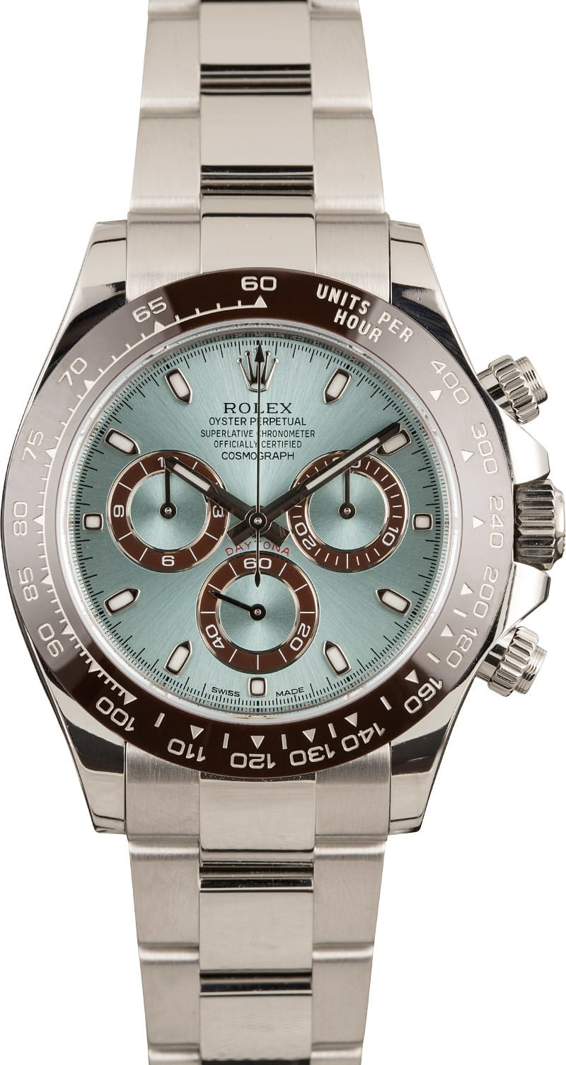 Rarest Rolex Daytona Models for Collectors Brown Cerachrom Ice Blue Dial 116506 Platinum