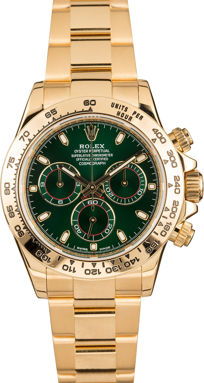 The Most Collectible Rolex Daytona Watches 116508 Gold Green Dial