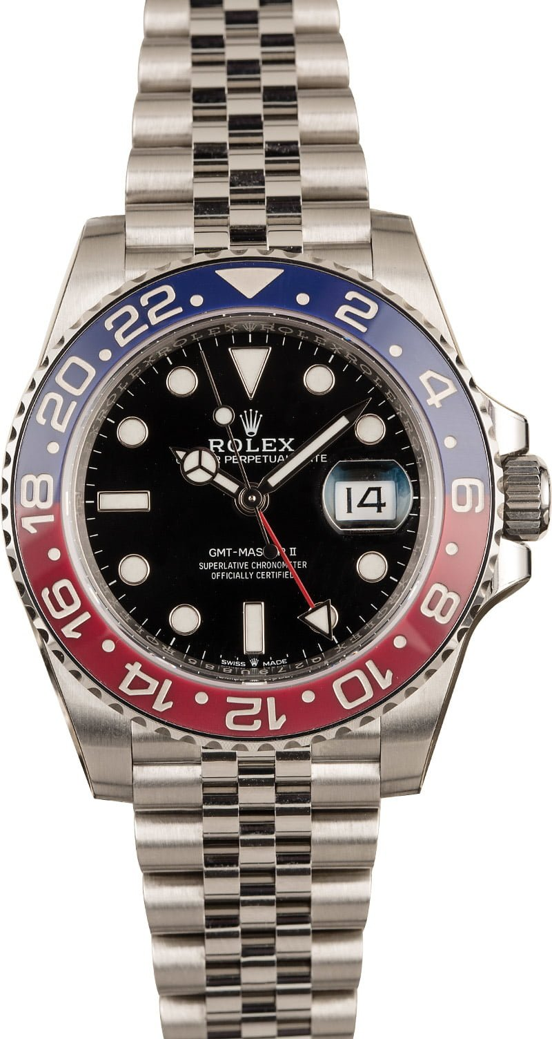 Most Popular Stainless Steel Rolex Watches for Men Ceramic Pepsi GMT-Master II 126710 BLRO Jubilee Bracelet