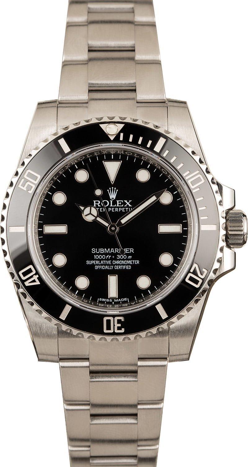 Most Popular Men's Rolex Watches Submariner Black No-Date 114060