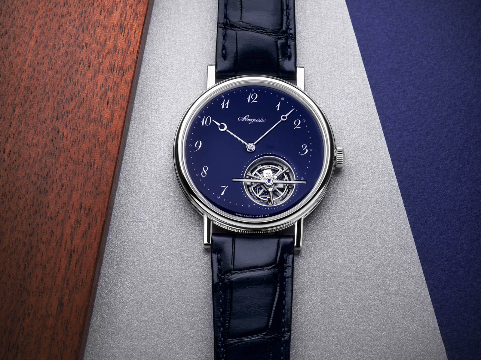 New Breguet watches 2020 Classique Tourbillon Extra-Plat 5367PT Blue Dial Platinum Enamel
