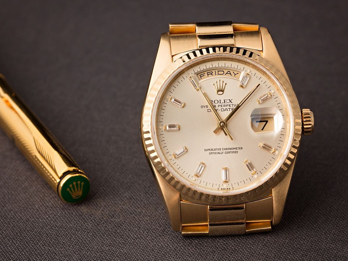 Diamond Rolex President 18238 Day-Date Presidential Baguette Dial