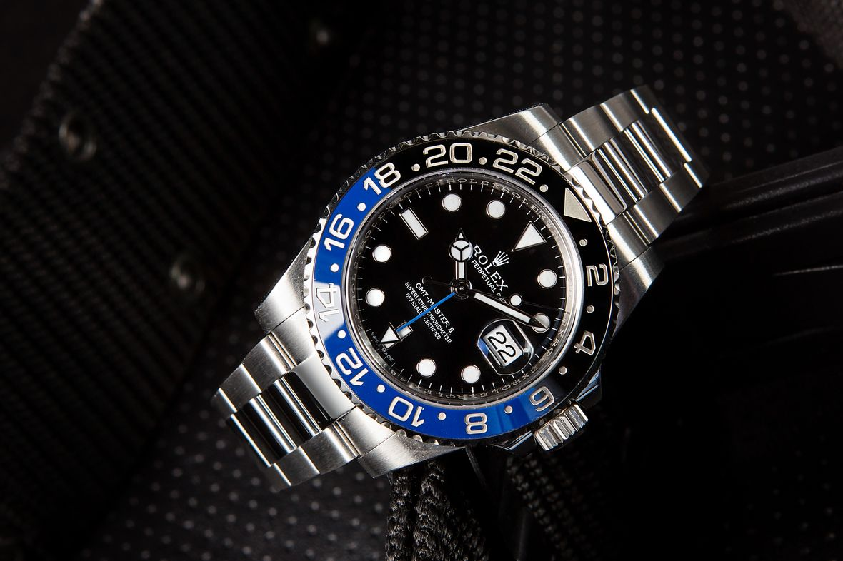 Stainless Steel Rolex Batman GMT-Master II 116710 BLNR Black Blue Ceramic Bezel