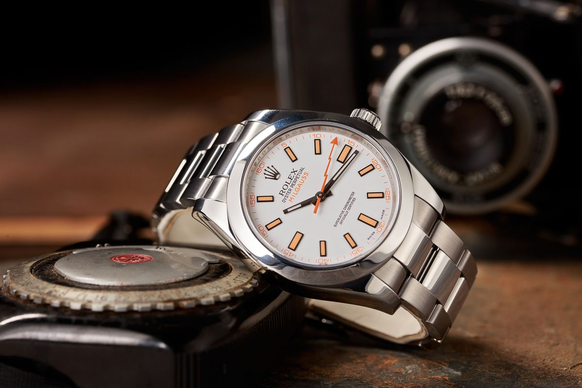 Are the Non-GV Rolex Milgauss Watches Discontinued? White Dial 116400