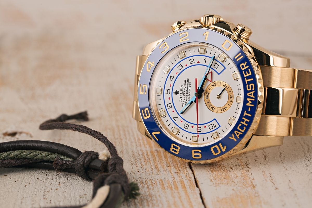 Gold Rolex Spring Fashion 2020 Official Style Guide Yacht-Master 116688