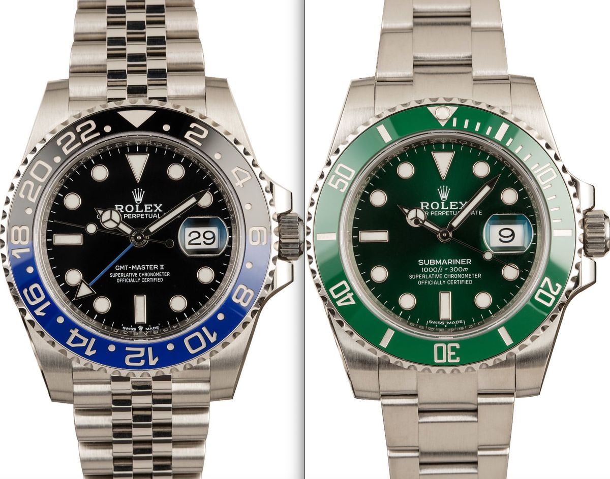 Rolex Batman GMT-Master II vs Hulk Submariner Video Comparison Guide