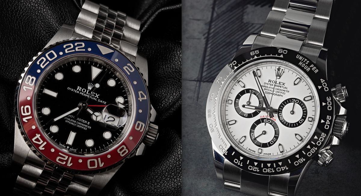 Rolex GMT-Master II vs Daytona Comparison Stainless Steel Ceramic Pepsi