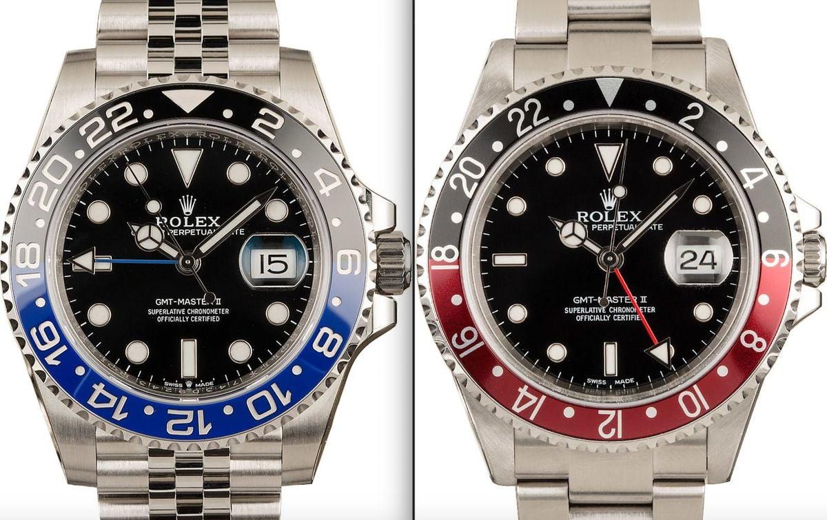 Rolex Batman vs Coke GMT-Master II Comparison