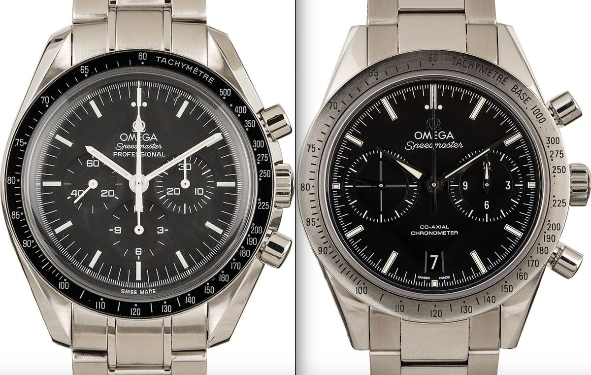 Omega Speedmaster Pro Moonwatch vs Speedmaster '57 Co-Axial Comparison