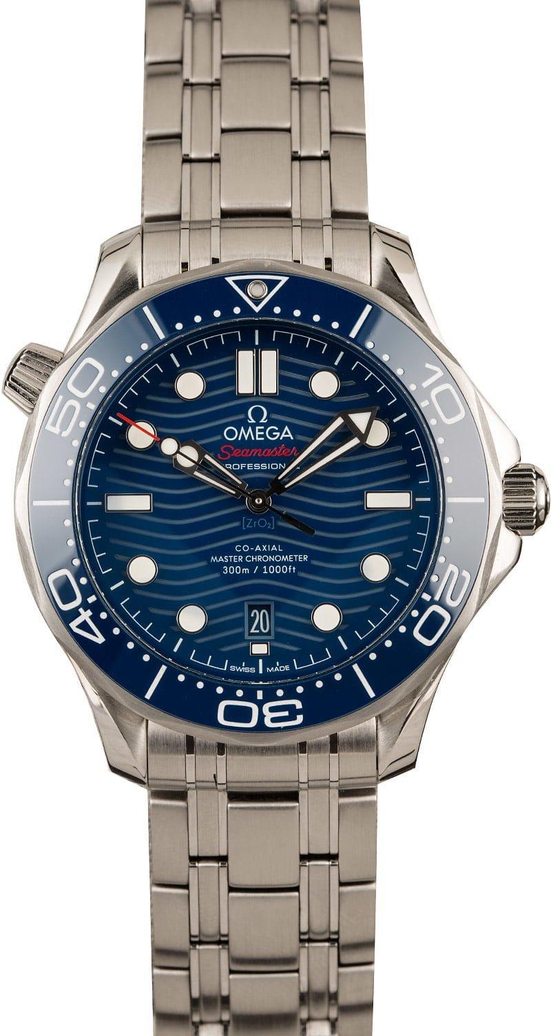 007 James Bond Omega Seamaster Diver 300M Blue Ceramic Wave Dial