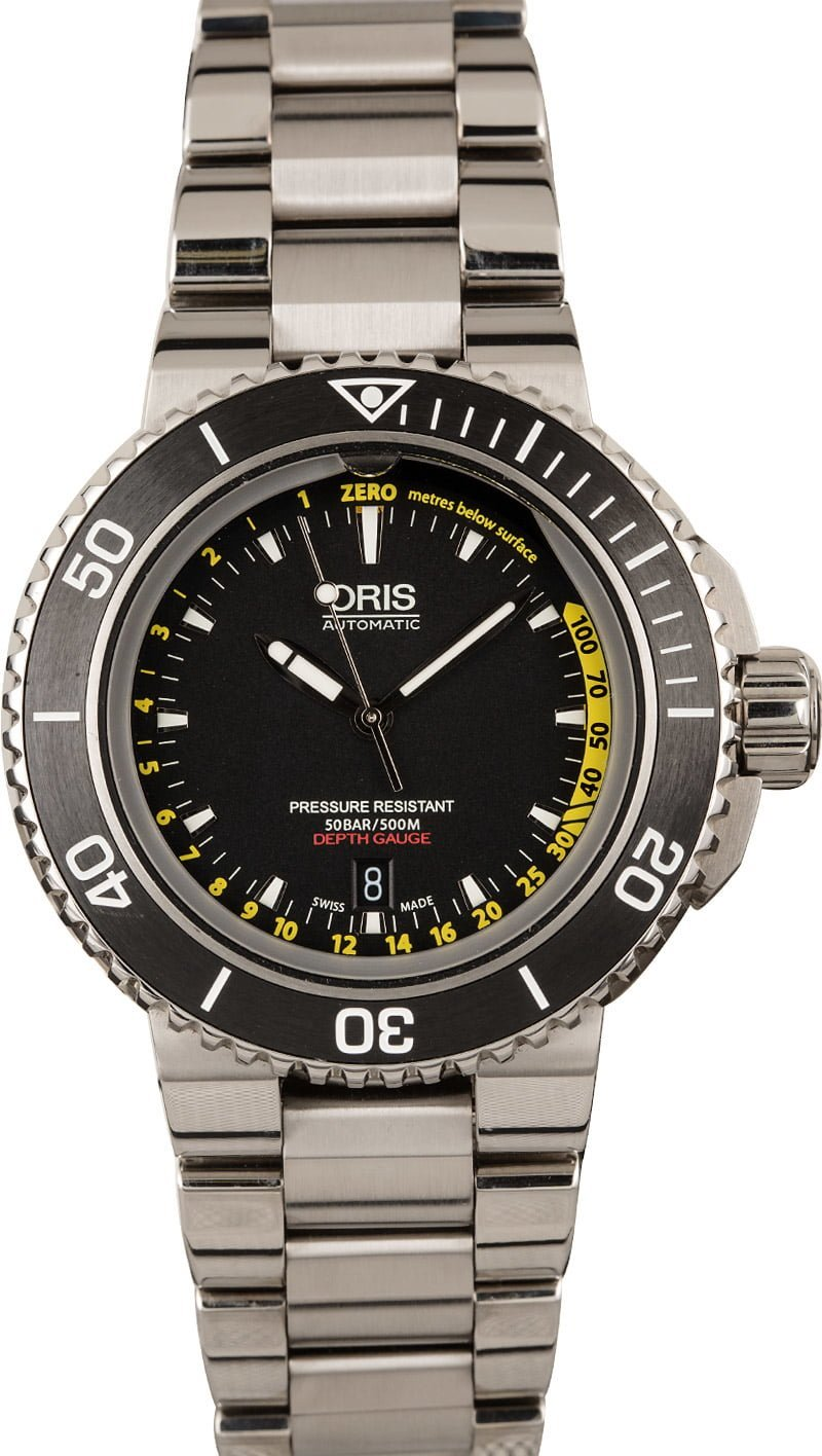 Oris Dive Watches For Watch Snobs Aquis Depth Gauge