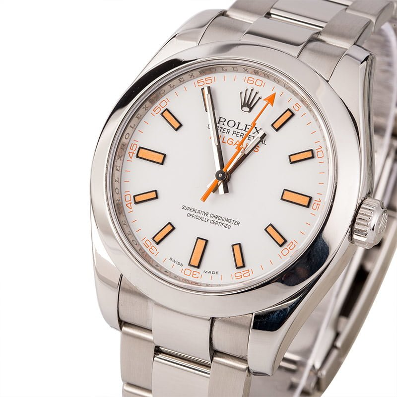 Undervalued Used Rolex Watches in 2020 White Milgauss 116400