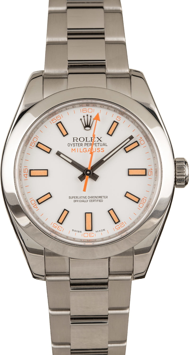 Top 3 Undervalued Used Rolex Watches in 2020 Milgauss 116400 White Dial