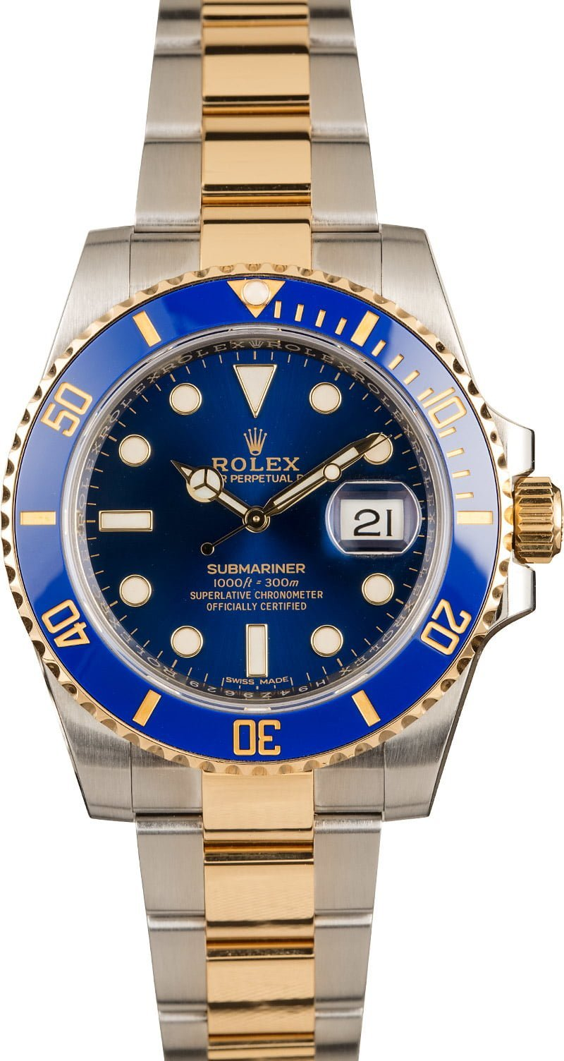 Rolex Watches for Women Diving Two Tone Submariner 116613