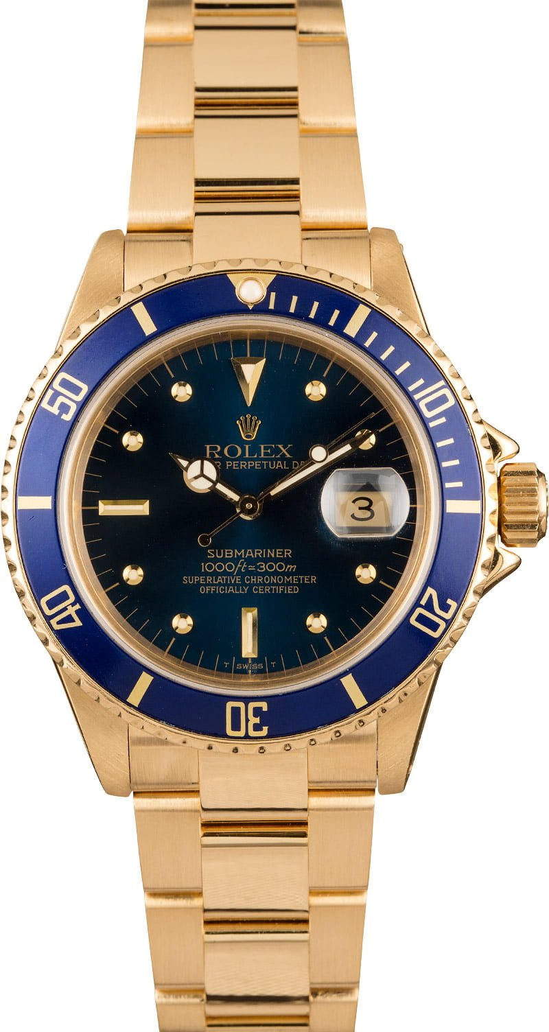 Rolex Watches for Women Who SCUBA Dive Gold Submariner 16808
