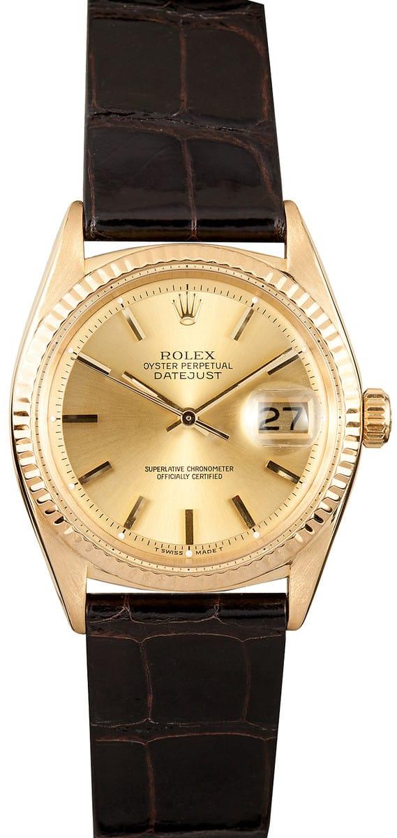Vintage Rolex Datejust Celebrity Style Guide 1601 David Beckham