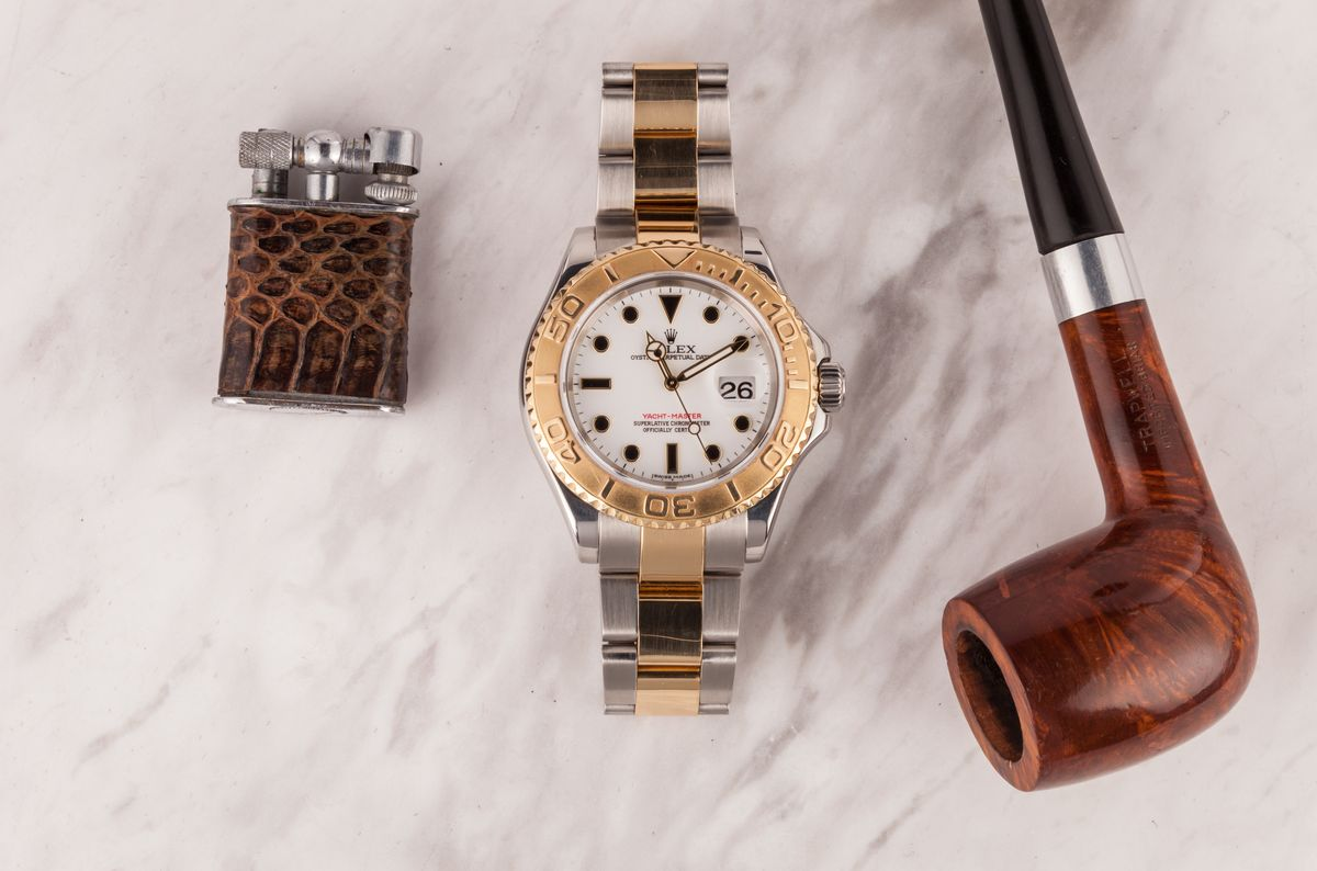Most Unusual Rolex Yacht-Master 16623 Two-Tone Dial White Black Markers