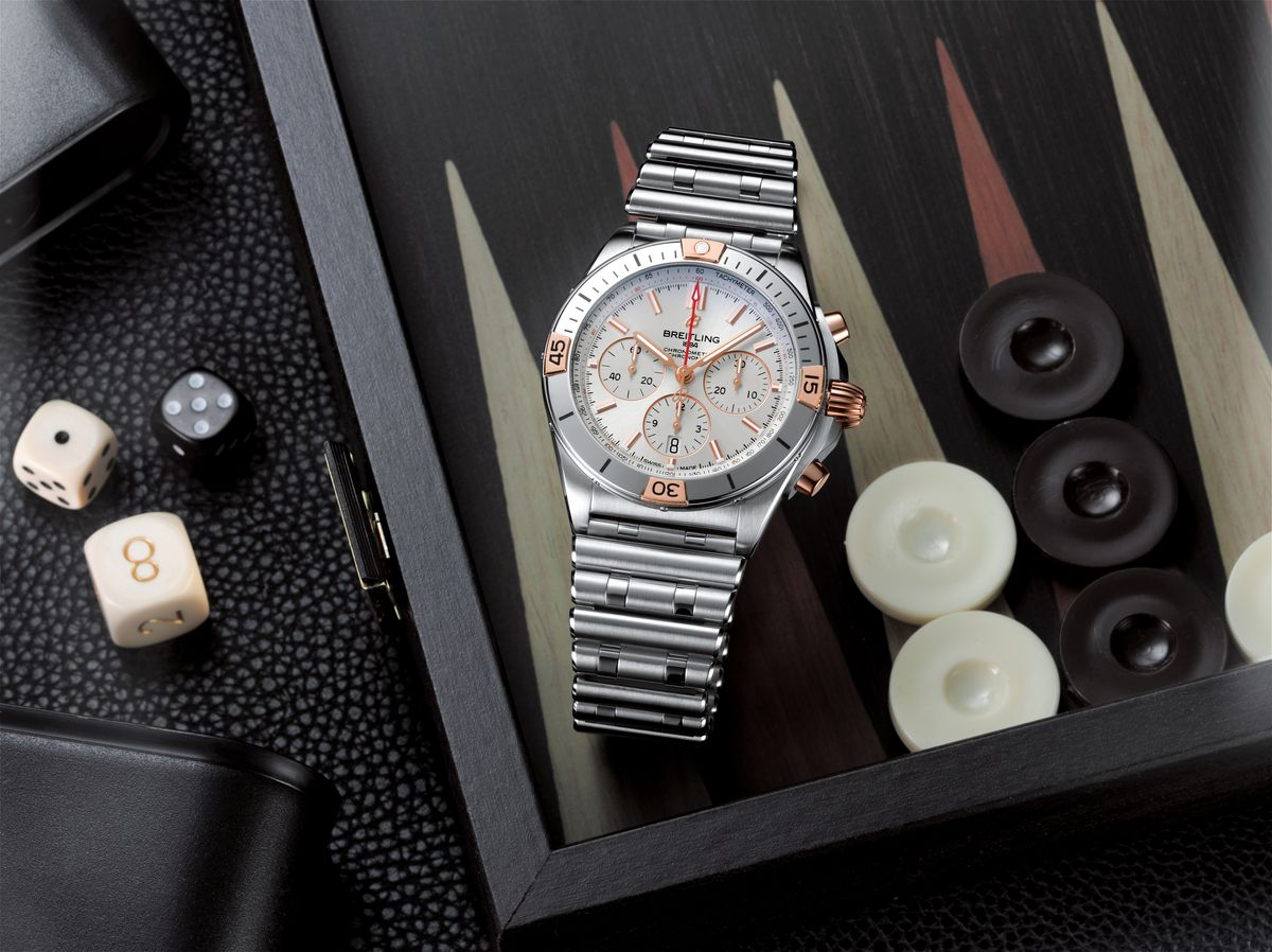 Breitling New 2020 watches Chronomat Superocean Two-Tone Silver Dial