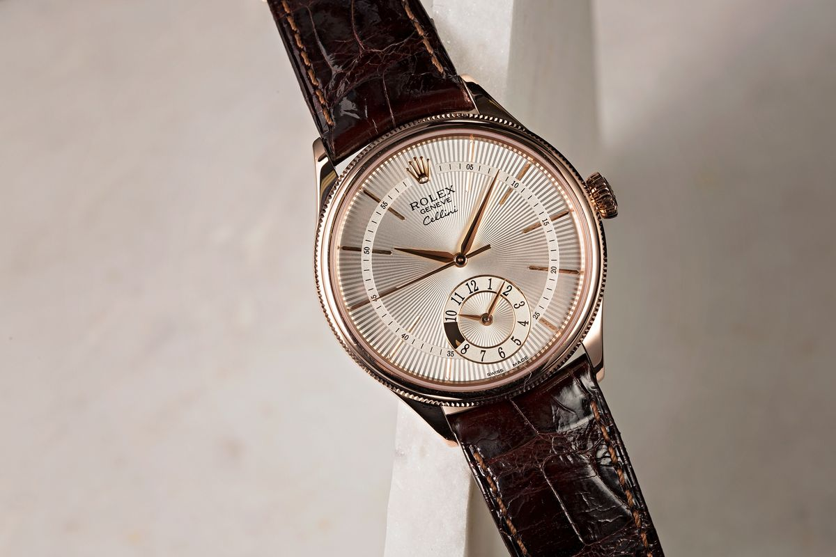 Rolex Cellini Dual Time Dress Watches for Men