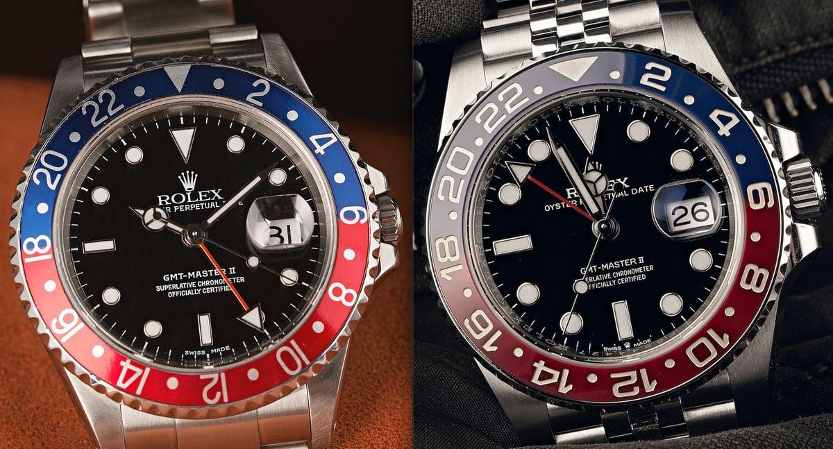 Rolex GMT-Master II Pepsi Comparison Guide 16710 vs 126710