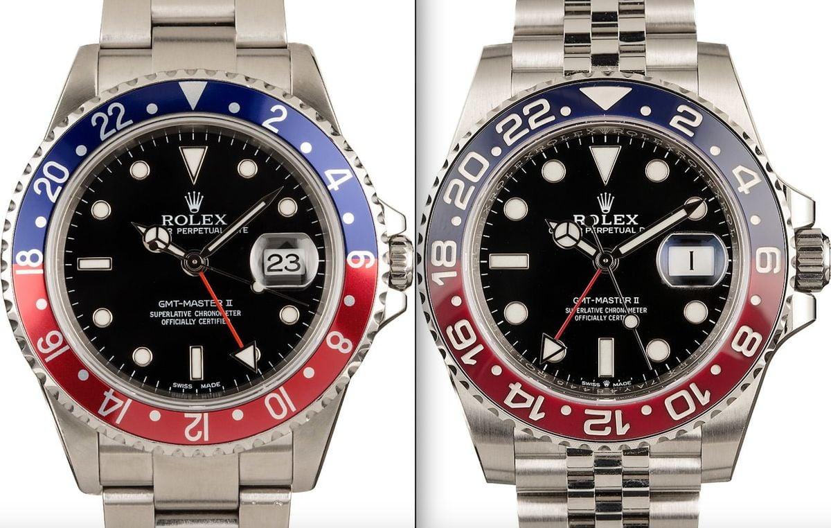 Rolex GMT-Master II 16710 vs 126710 Pepsi Bezel Comparison Guide