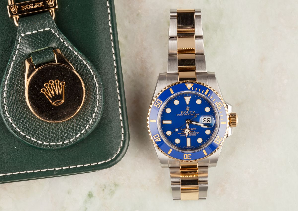 Rolex Professional Watches to Wear on Easter Two Tone Submariner Blue 116613LB