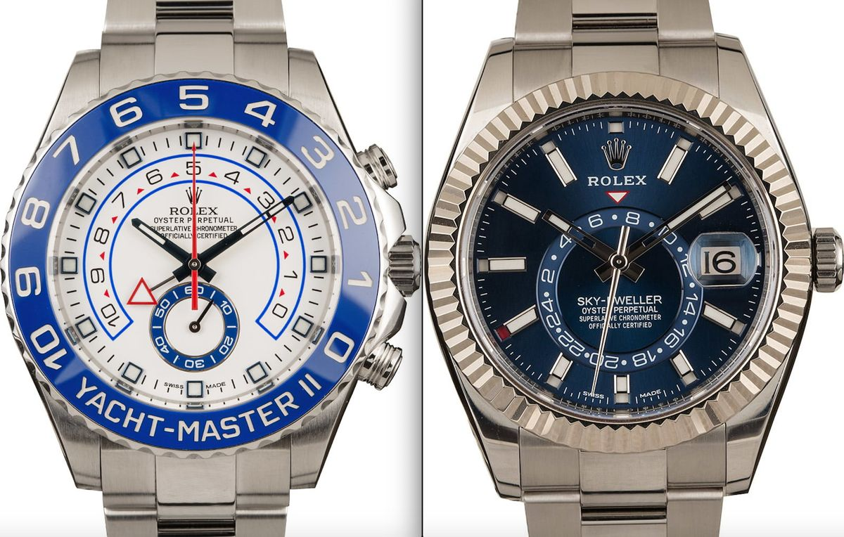 Rolex Yacht-Master II vs Rolex Sky-Dweller Shopping Guide Stainless Steel Blue