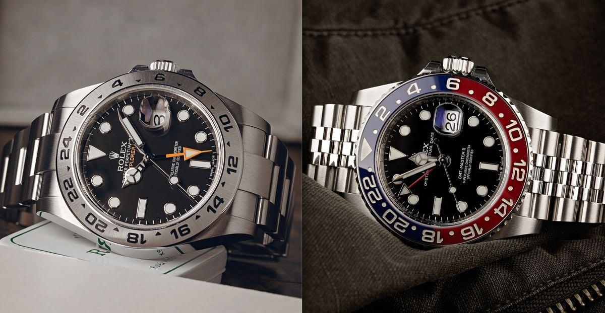 Rolex Watch Comparison GMT-Master II vs Explorer II