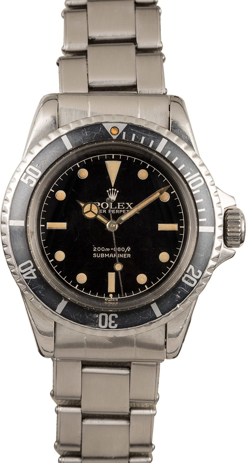 Most Luxurious Standard-Production vintage Rolex Submariner Models 5512 gilt dial