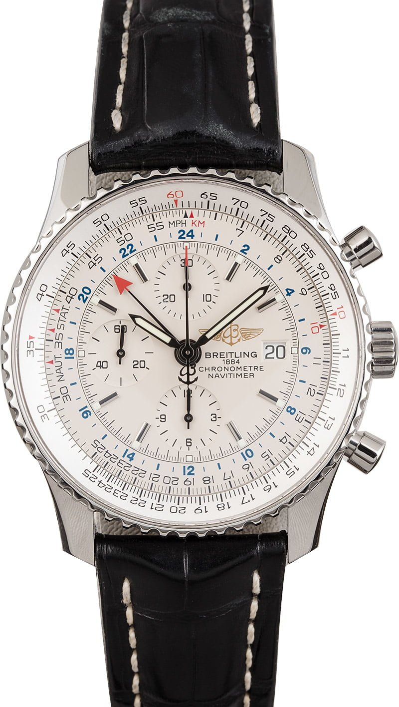 Breitling Watches Our Favorite Navitimer world Models A2432212
