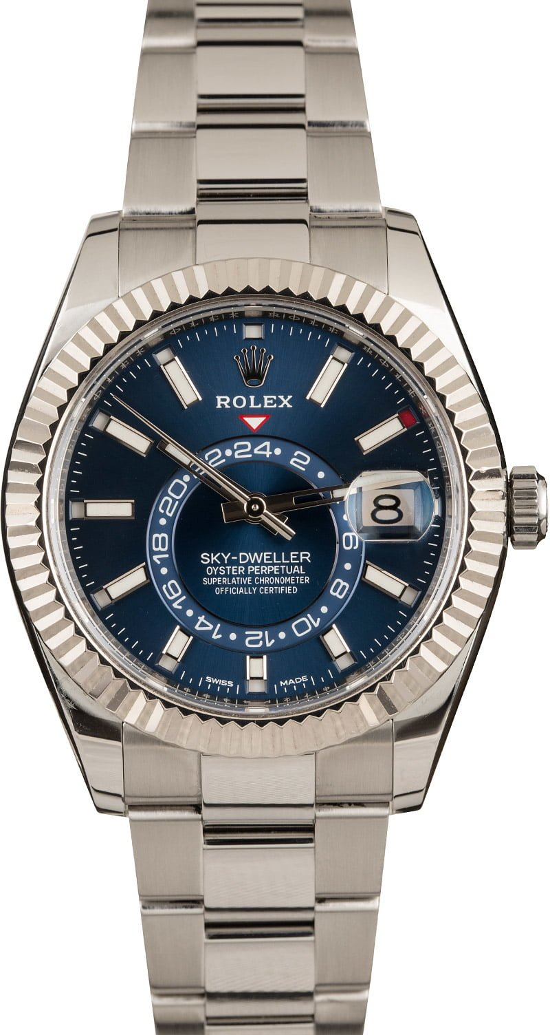 Best Rolex Watches for Sale Right Now Steel Sky-Dweller 326934 Blue Dial