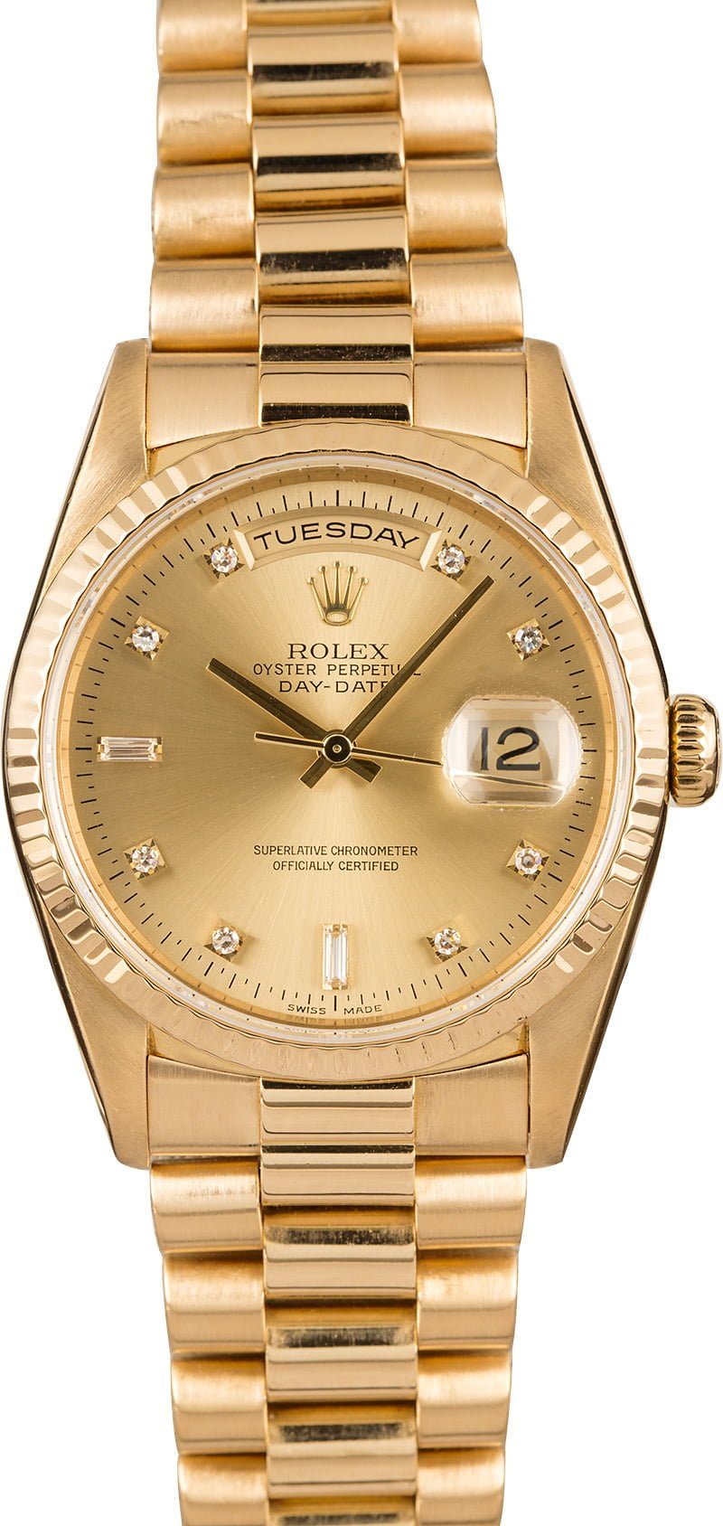 A few of our Favorite Rolex Watches for Sale on our site Right Now Day-Date President 18238 Diamond Dial