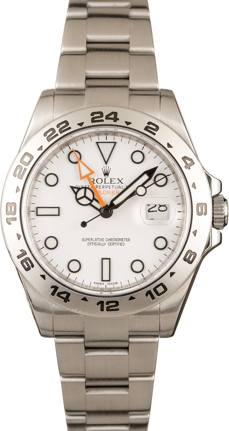 A Few of Our Favorite Rolex Watches for Sale Right Now Polar Explorer II 216570