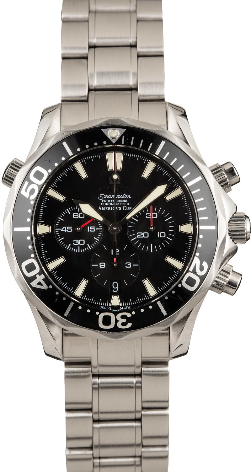 Not James Bond Omega Seamaster Watches Worth Collection Diver Chronograph America's Cup Edition