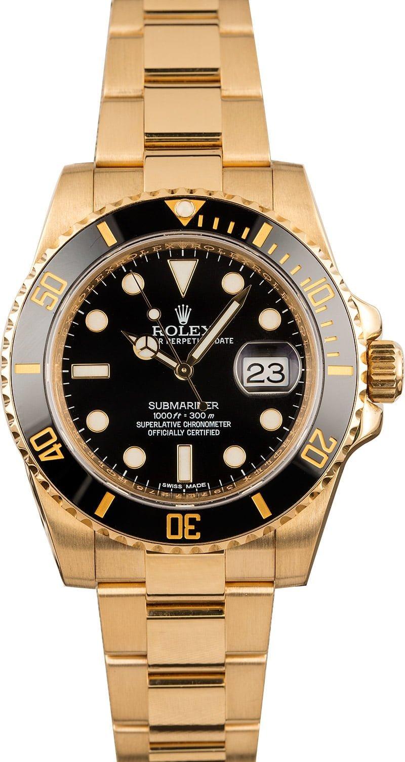 Most Luxurious Standard Rolex Submariner Watches 116618LN Black Dial
