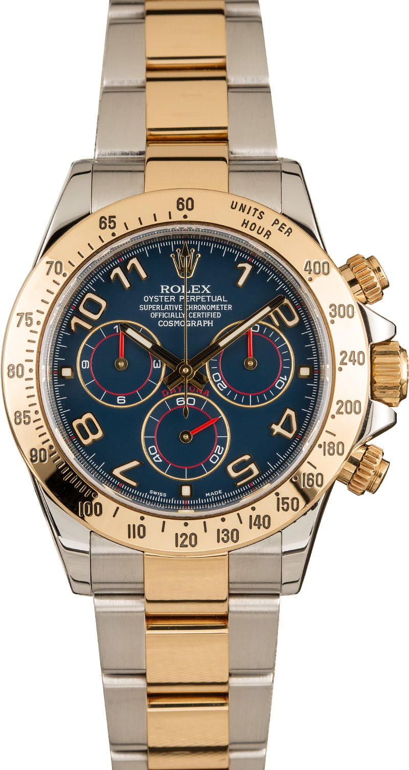 Rolex Professional Watches to Wear on Easter Daytona Blue Dial Steel and Gold 116523