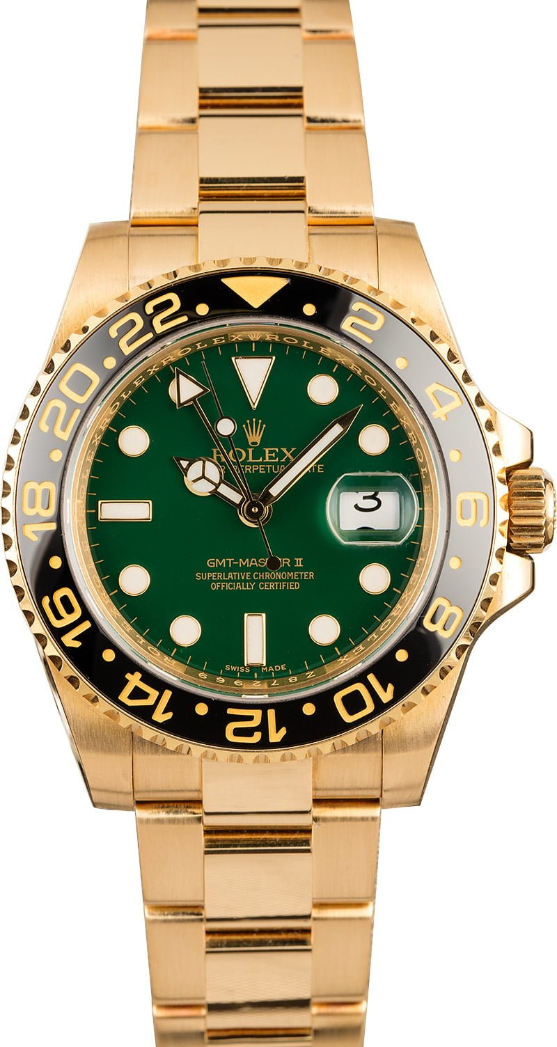 Favorite Colorful Rolex Watch Dials GMT-Master II 116718 Green Dial