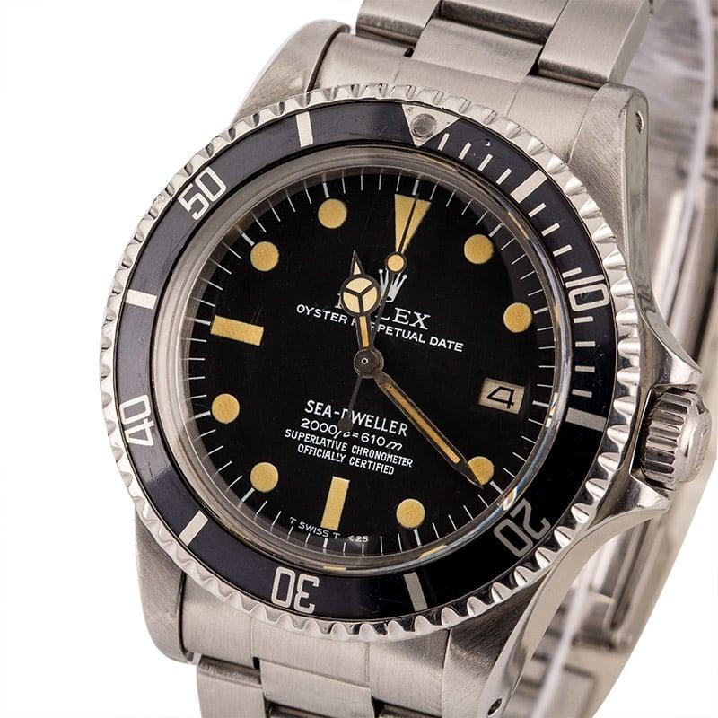 Rolex Sea-Dweller 1665 Tritium vs Rail Dial Comparison