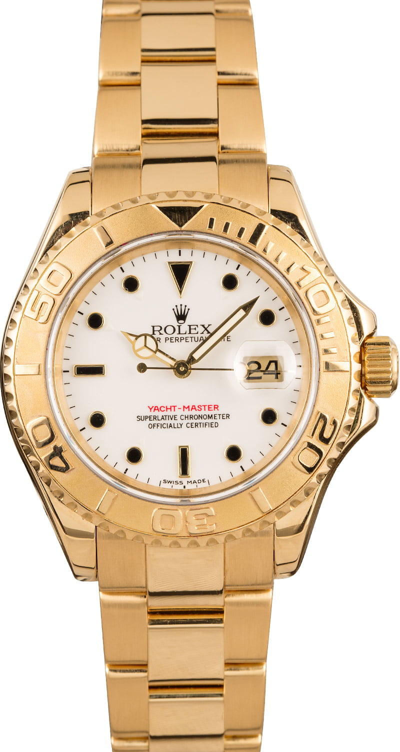 Most Unusual Rolex Yacht-Master 16628 Dial White Black Markers