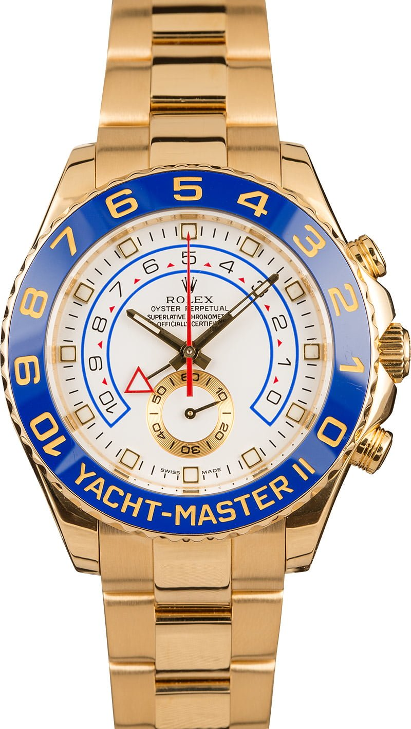 Rolex Yacht-Master II versus Sky-Dweller Comparison Guide 116688 Yellow Gold