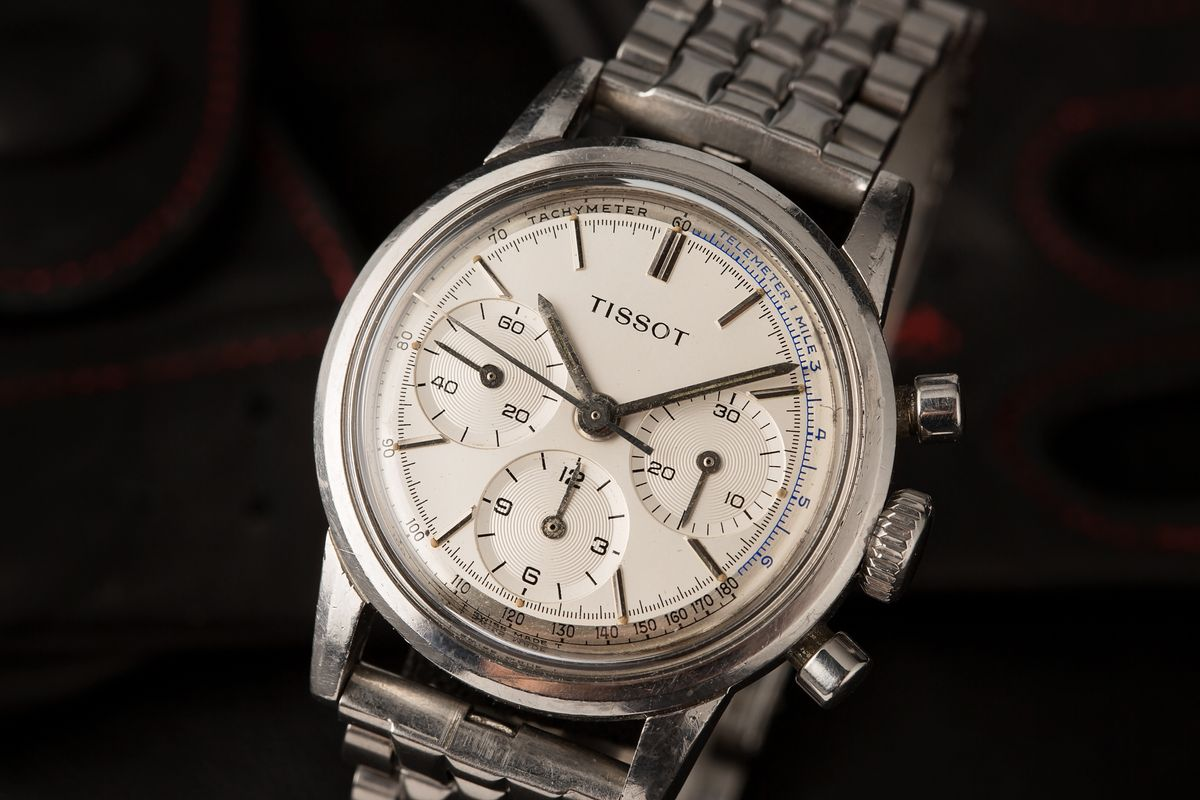 Vintage Tissot Chronograph Watch Stainless Steel