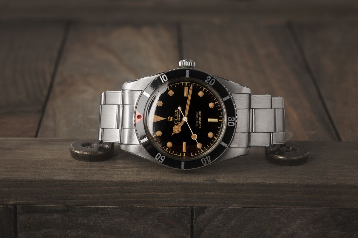 Vintage Rolex Submariner 6536 Gilt Dial Red Triangle