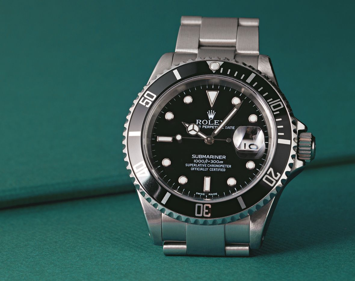 Fathers Day Gift Rolex Submariner 16610 Black Stainless Steel