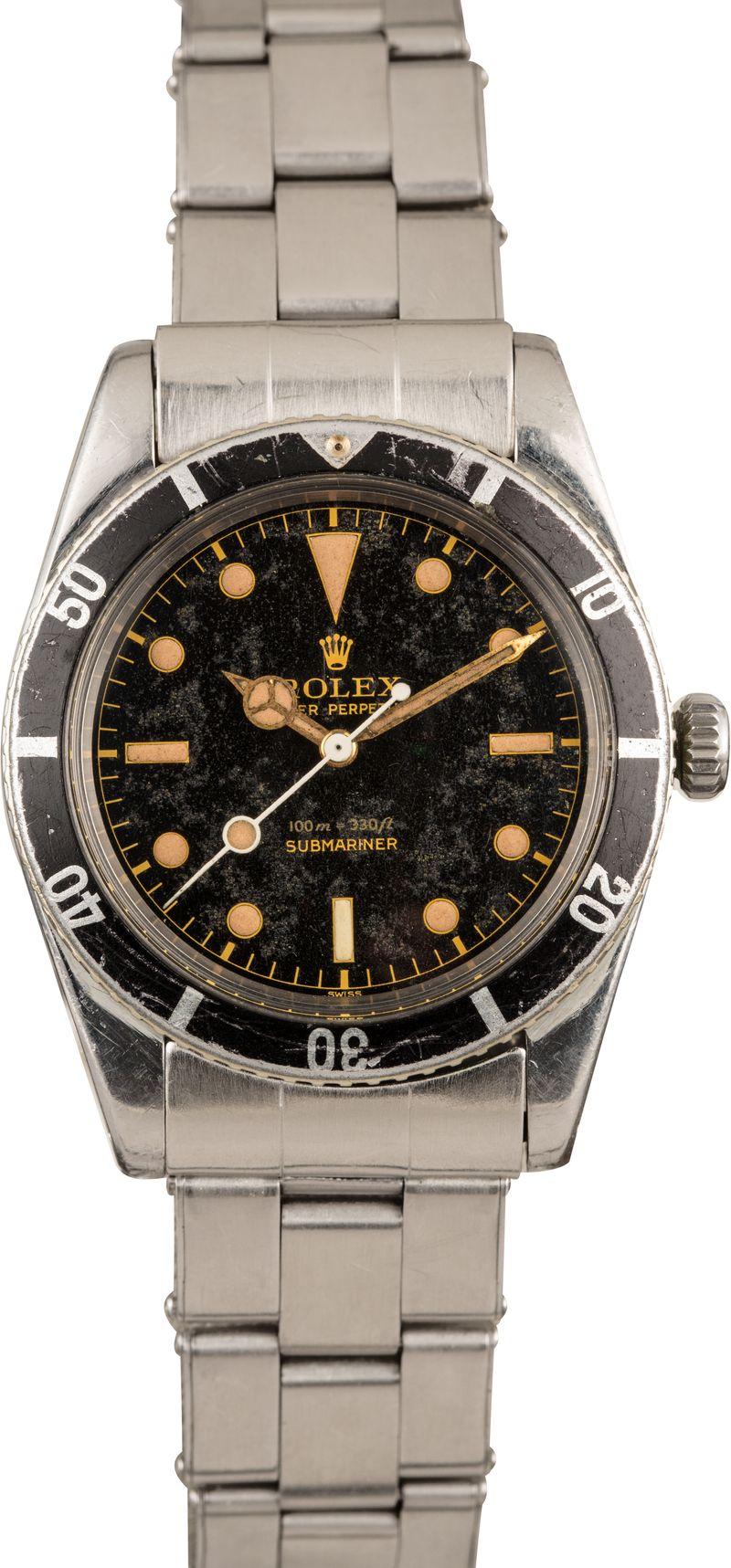 Bob's Watches Fresh Finds Vintage Rolex Auction Submariner 6536