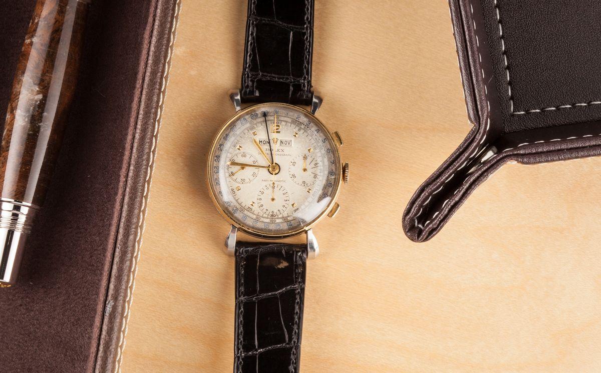 Bobs Watches Fresh Finds Vintage Rolex Auction Triple Calendar antimagnetic Chronograph 4768