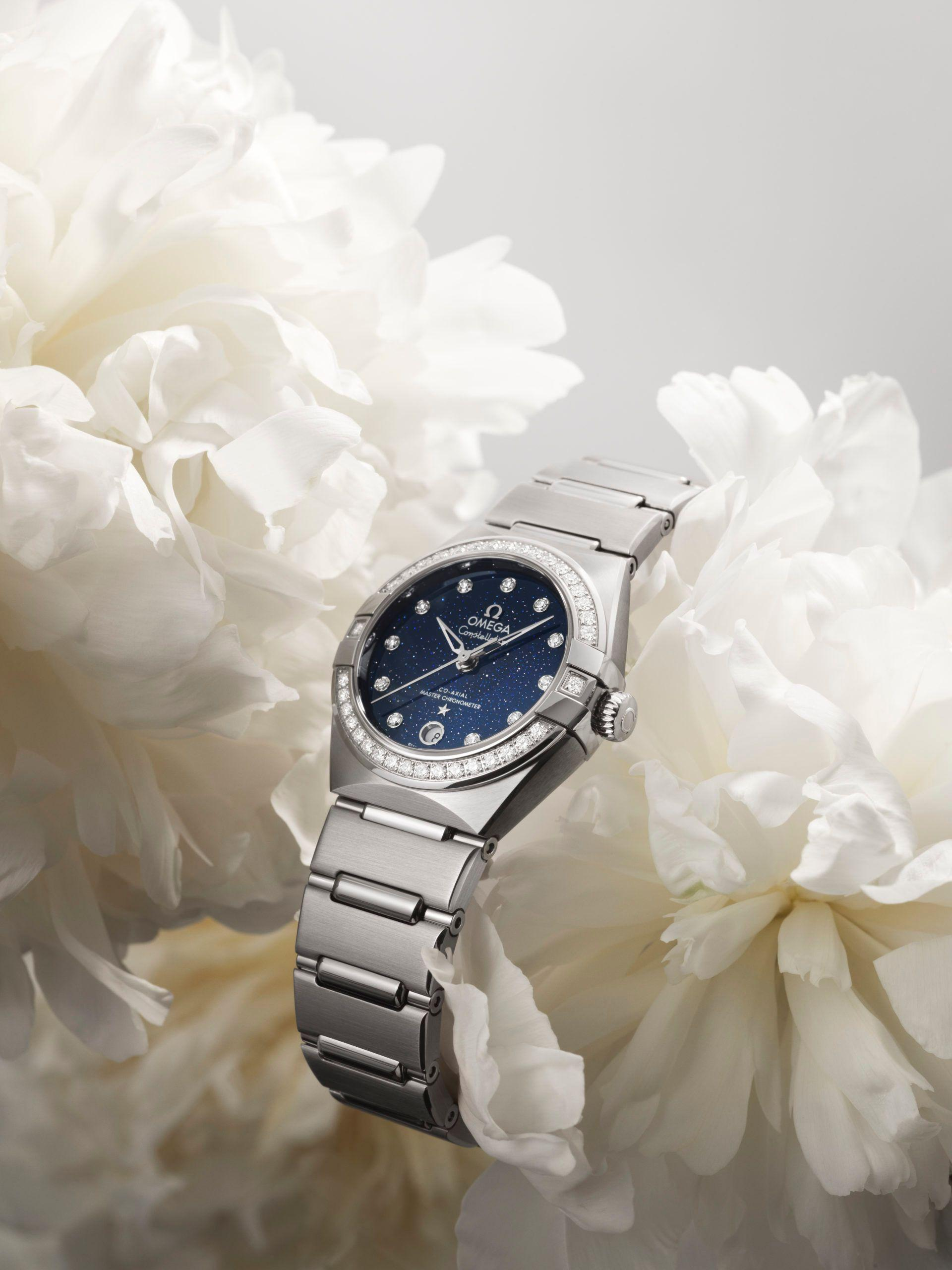 New OMEGA Aventurine Dial Constellation Watches - Diamond Bezel