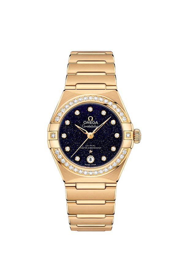 New Aventurine Dial OMEGA Constellation Watches - 18k Yellow Gold