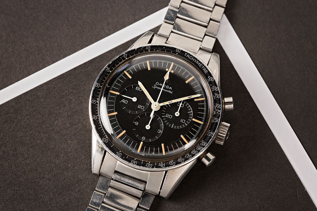 Fresh Finds Vintage Auction Rolex Omega 1960s Sports watches Speedmaster 105.003 Caliber 321 Ed White